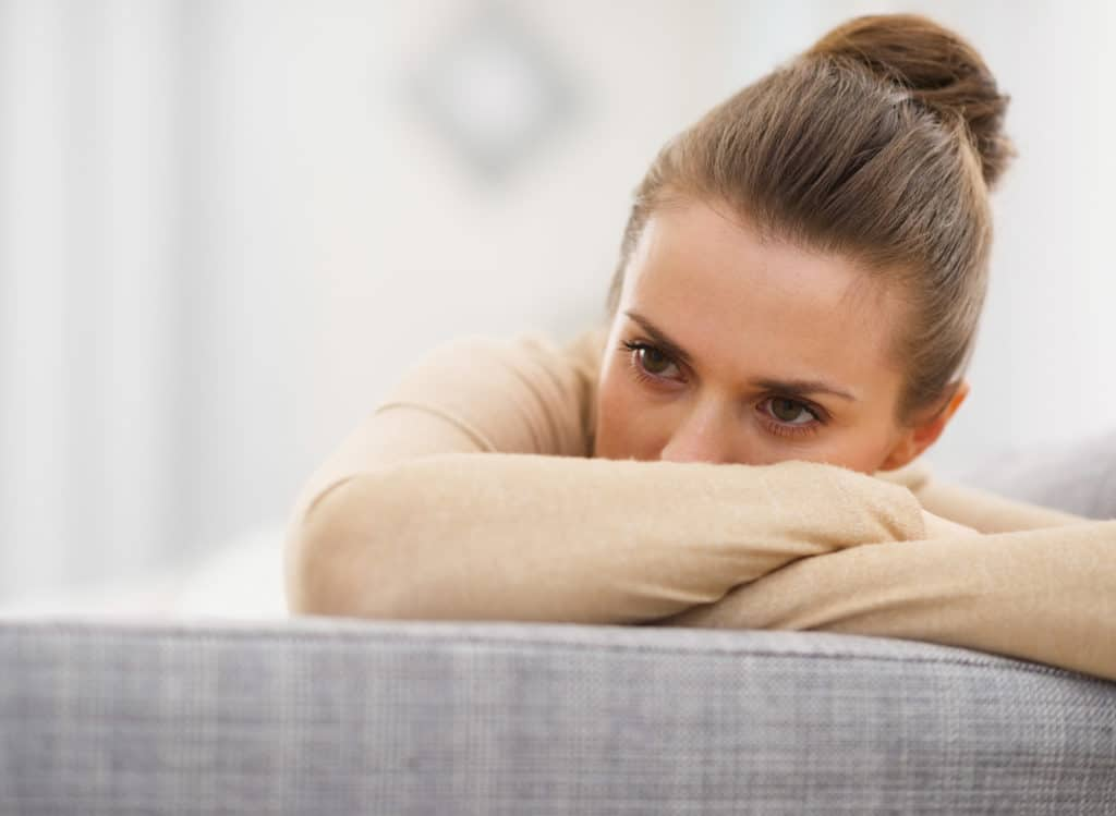 depressed woman before NAD treatment